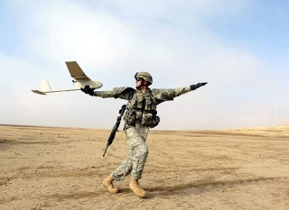 RG-11B drone being launched in Iraq